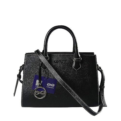 Amazon.com: leatury bolso de mano bolsas de mensajero, negro ...