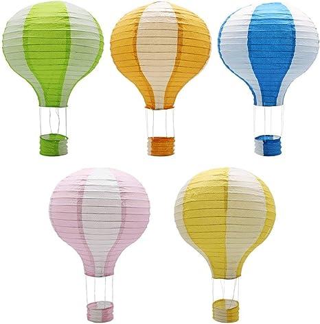 12/'/'Rainbow Hot Air Balloon Paper Lantern Birthday Party Wedding Decor Well TDO