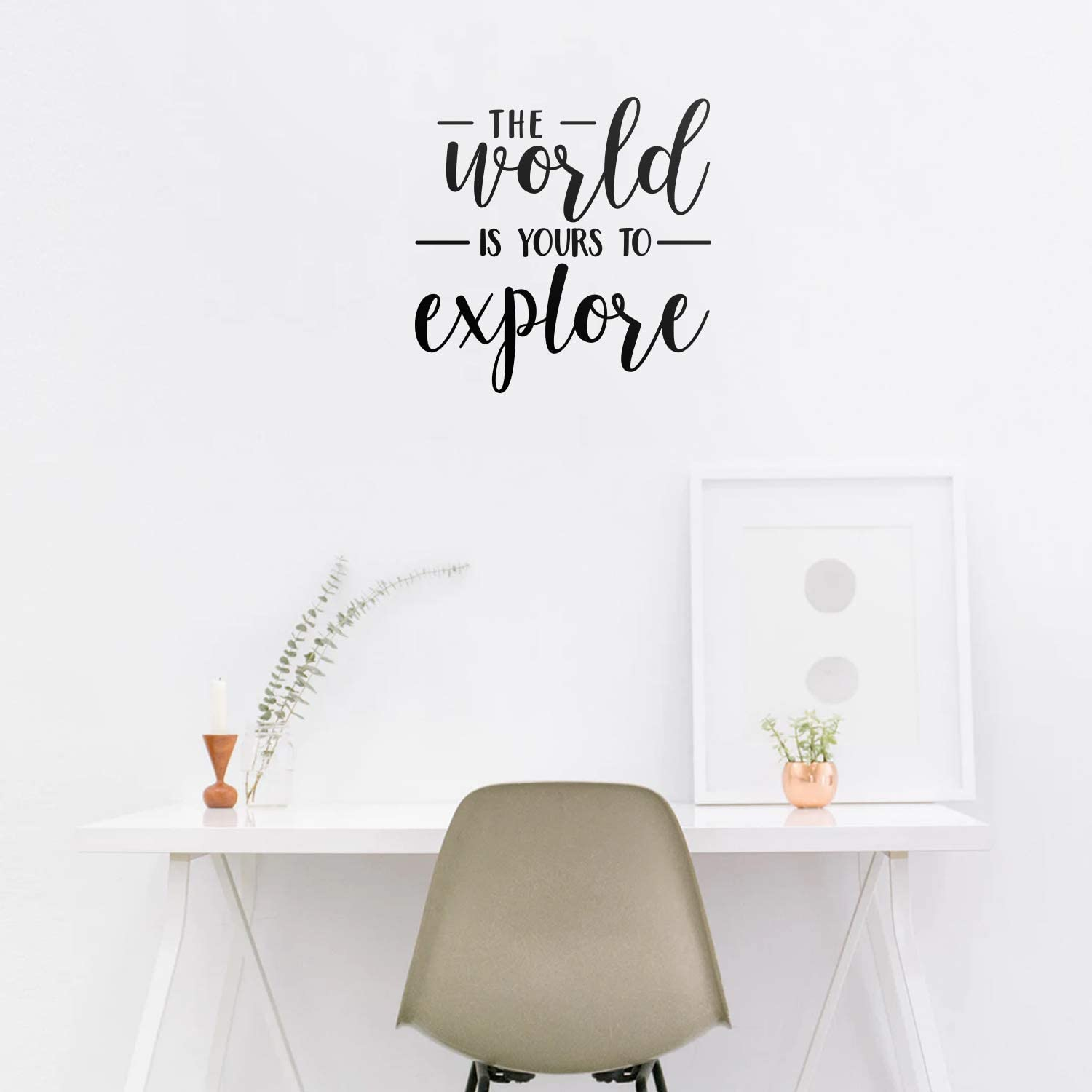 Vinyl Wall Art Decal - The World is Yours to Explore - 22