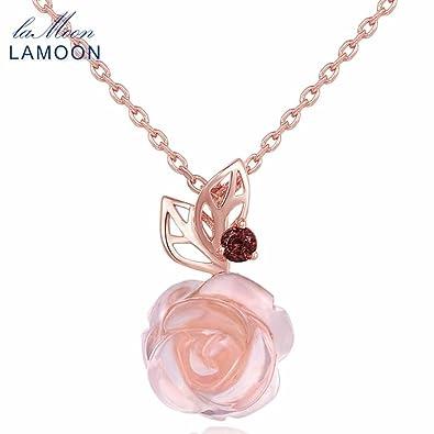 Funnyrunstore Lamoon Classique 9mm 100 Naturel Rose Rose Quartz