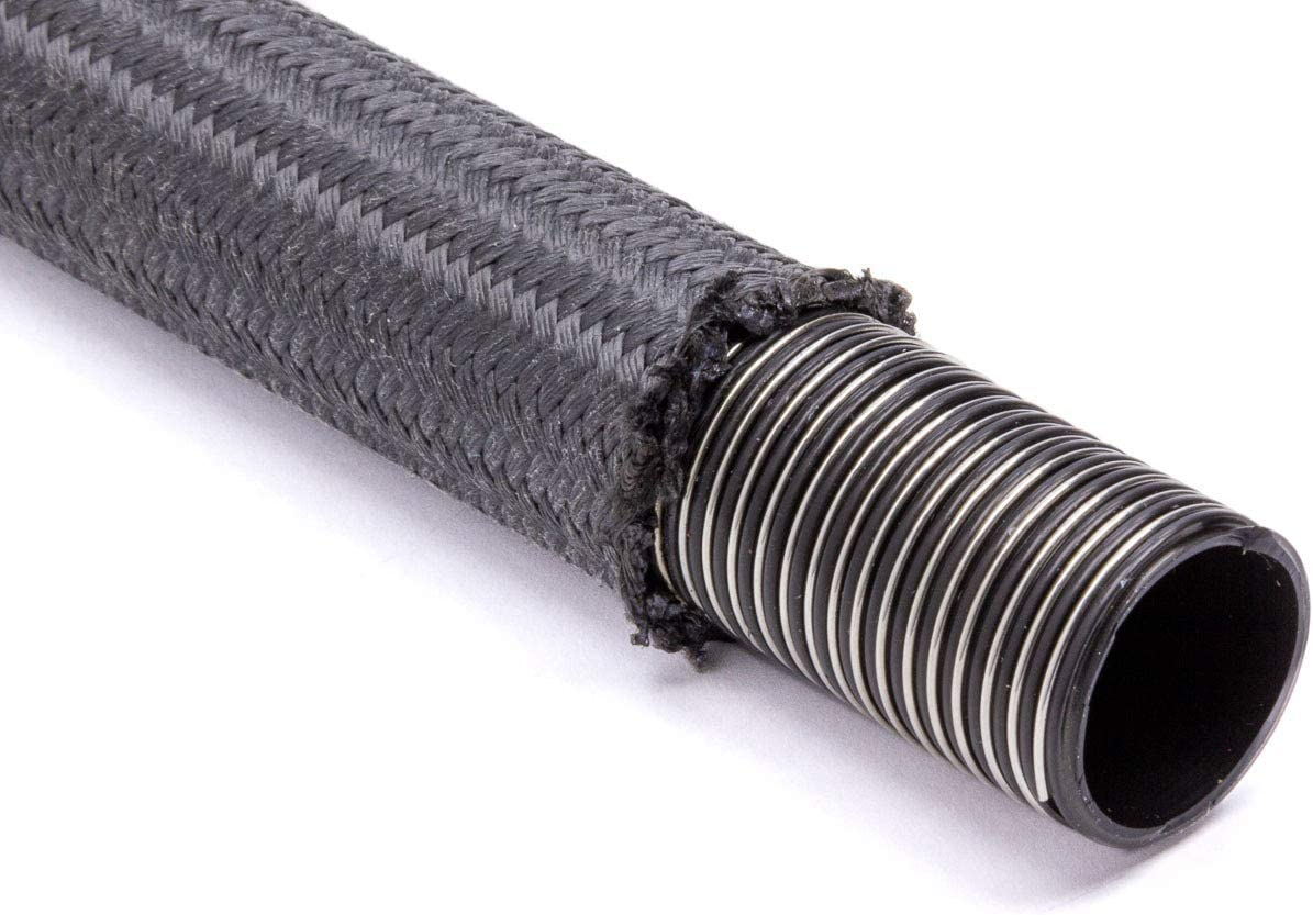 Braided Fire Retardant Fabric Black Each 6 AN Hose PTFE Wire Reinforced 3 ft