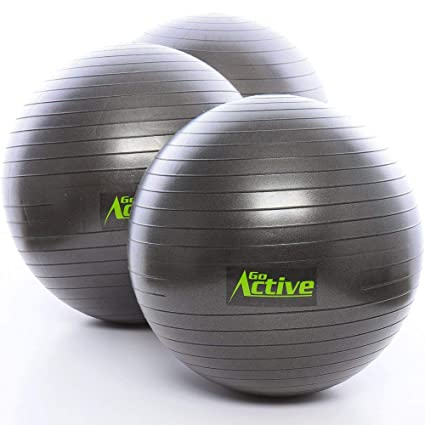 Go Active Lifestyles Exercise Ball - Stability Ball - Fitness Ball - Large Workout Balls For