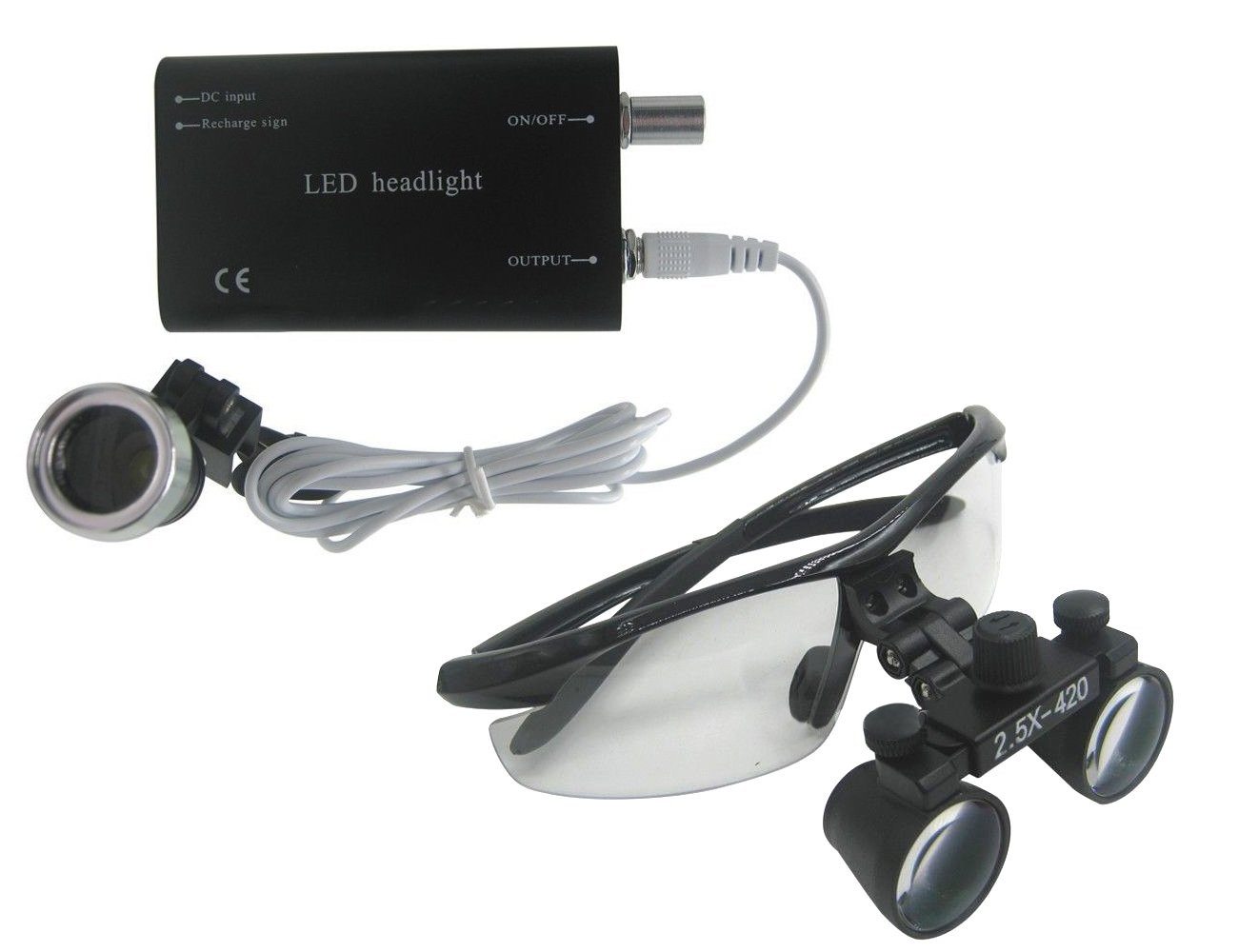 zgood 2,5 x -420 Dental quirúrgico Binocular Loupes lupa Kit ...