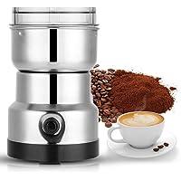 200W Elektrisk Kaffekvarn med Rostfritt Stålblad och Genomskinligt Lock, Can Mala Kaffebönor, Bönor, Nötter, Bönor…