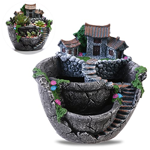 Fairy Garden and Sweet House for Decoration (silver)