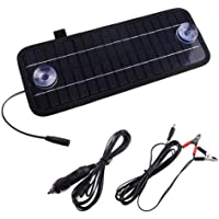 Birmingfive Solar Battery Charger Car, 4.5W 12V Solar Charger for Car Battery, Portable Solar Battery Maintainer