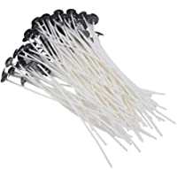 """Vardhman Cotton Candle Making Wigs Wax Coated, 2.5 Inches (Candlewigs2.5"""") - Set of 100 Pieces"""