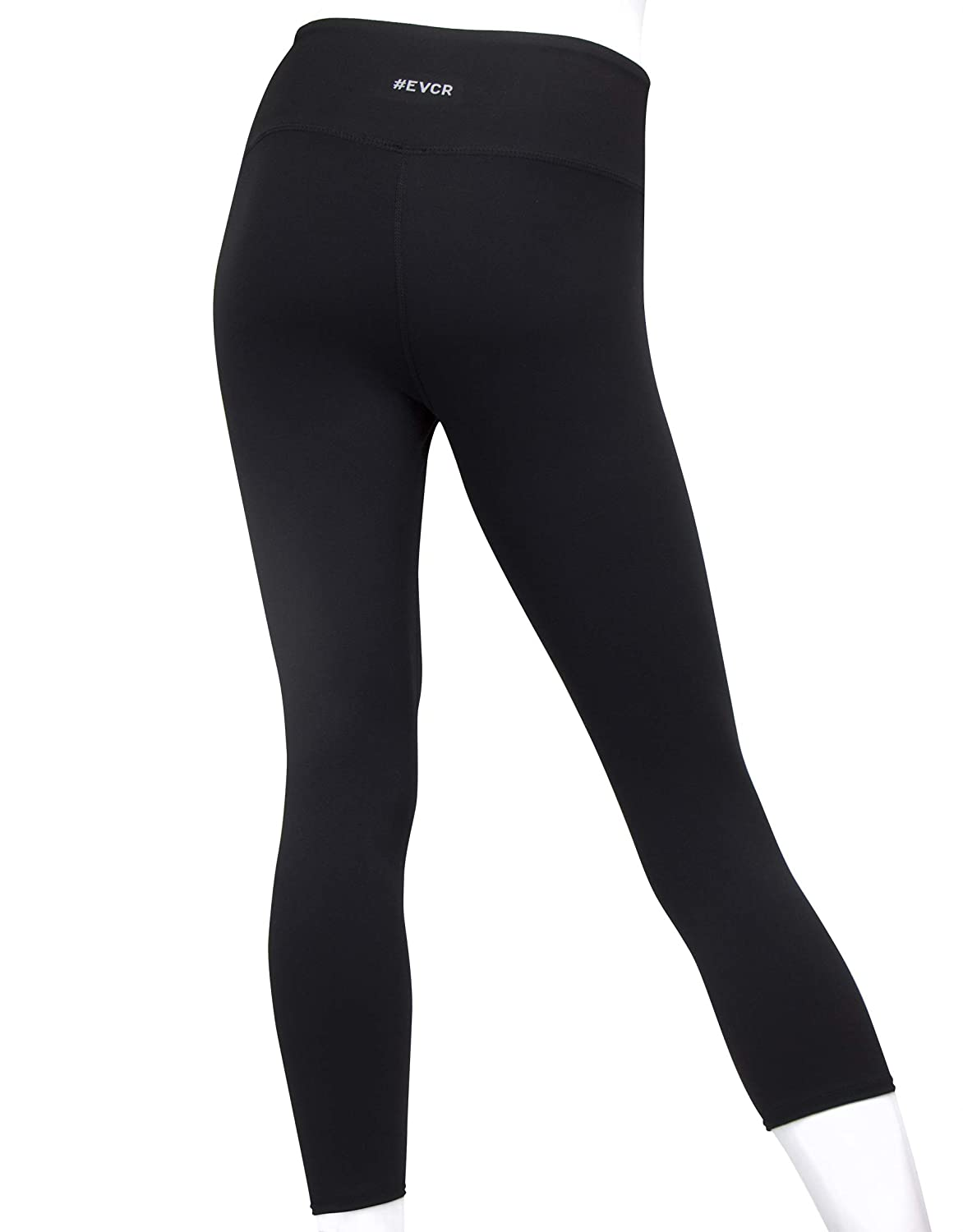 Non See Through Soft Athletic Yoga Pants for Workout EVCR Capri Leggings for Women