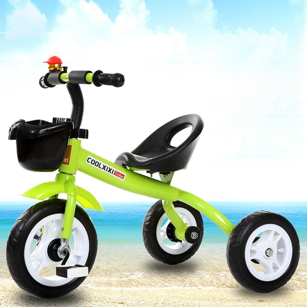 Fenfen Children 's Tricycle 2 – 5 Years Old Baby Bike子Baby Stroller、ホワイト/グリーン/パープル、685057 CM。 B07CJC5KXDグリーン