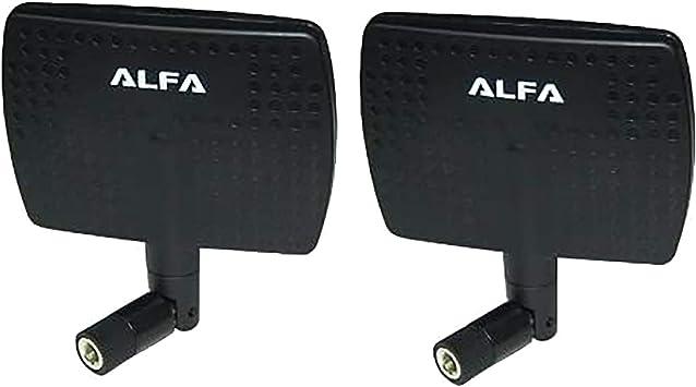 Alfa – Amplificador de antena para Wifi – 7dBi RP-SMA Panel basculante atornillable para netwrok adaptadores – también funciona para 3DR Solo Drone, ...