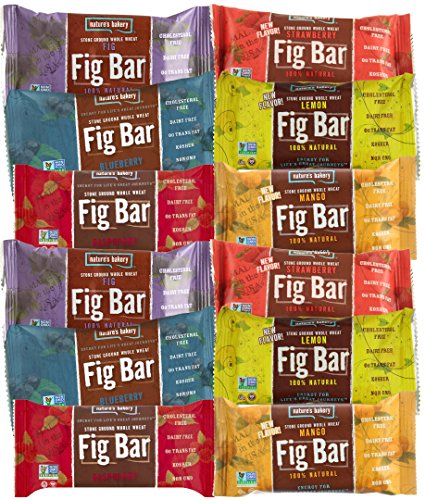 Nature's Bakery Fig Bars Healthy Snacks (Count 12) Variety Pack with Figs, Strawberry, Raspberry, Lemon, Blueberry and Mango