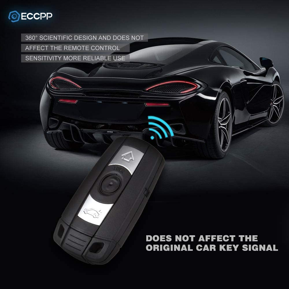 ECCPP Replacement fit for Uncut 315MHz Keyless Entry Remote Ignition Key Fob BMW Series KR55WK49127 KR55WK49123 Pack of 1