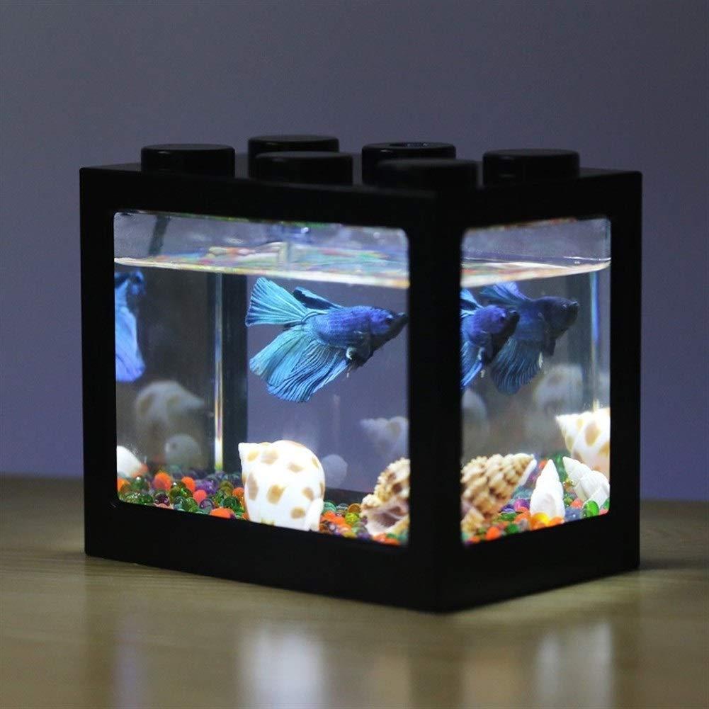 Mini Acuario Usb Lámpara de Luz Led Tanque de Pescado Oficina en ...