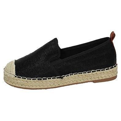 H.F Shoes BL-60 Alpargatas Negras Mujer Alpargatas: Amazon.es: Zapatos y complementos
