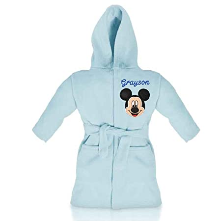 ba88738211 Mickey Mouse Disney Luxury Personalised   Applique Super Soft Fleece Dressing  Gown Bathrobe (2-3 Years)  Amazon.co.uk  Kitchen   Home