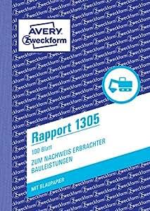 "AVERY Zweckform Formularbuch""Rapport"", A6, 100 Blatt"