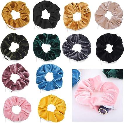 12x Colorful Velvet scrunchy hair bands girls hair scrunchies Ponytail Holder UK