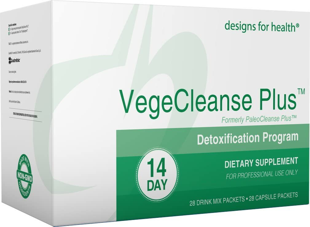 Designs for Health Vegetarian Cleanse Program – VegeCleanse Plus 14 Day Detox Program 28 Protein Powder 28 Vitamin Packs