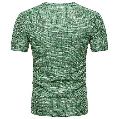 Solid T Shirts for Men, MISYYA Abstract Streak T Shirt Breathable Sweatshirt Muscle Tank Top Masculinity Tee Mens Tops Green by MISYAA (Image #2)