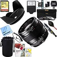 Fujifilm Fujinon XF 23mm (35mm) F1.4R X-Mount Lens 16405575 + 64GB Ultimate Filter & Flash Photography Bundle