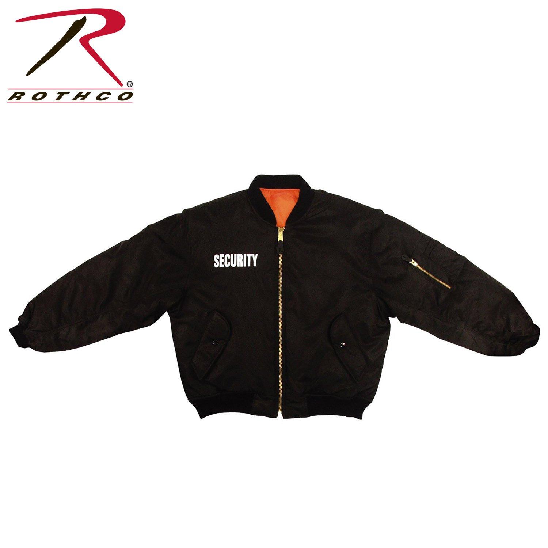 Rothco Ma-1 Flight Security Jacket, Black, Large