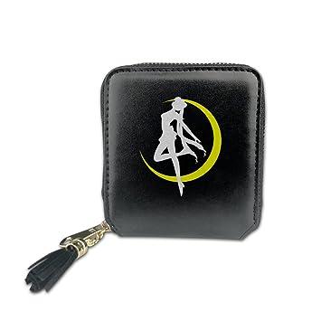 Las mujeres de Sailor Moon R la película Fashion Square Zpper cartera moneda bolsos bolso de mano bolsas de bolsa de dinero titular de la tarjeta cartera: ...