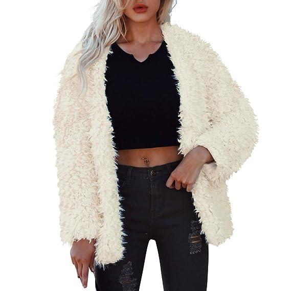 Luckycat Chaqueta de Abrigo de Invierno de la señora de Las Mujeres cálidas Cortas de Piel sintética Jacket Parka Prendas de Vestir Exteriores: Amazon.es: ...
