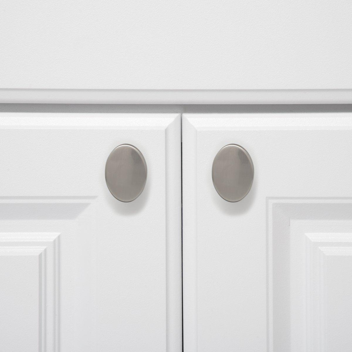 Oval Drawer Knob Basics Flat Polished Chrome Pack of 25