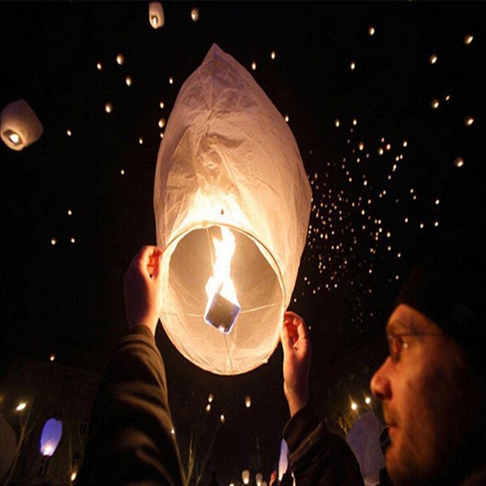 Colore Casuale PIXNOR 10pcs Forma di Cuore Sky Lanterna Kongming Cinese Lanterna Desiderano Lampade