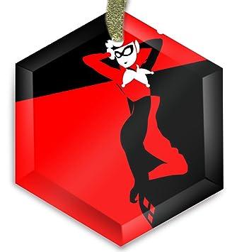 Joker Christmas Ornament.Harley Quinn Joker Batman Dc Comics G319 Cyrstal Christmas Ornament