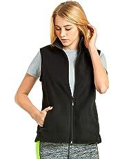 ET TU Women's Zip Up Polar Fleece Vest