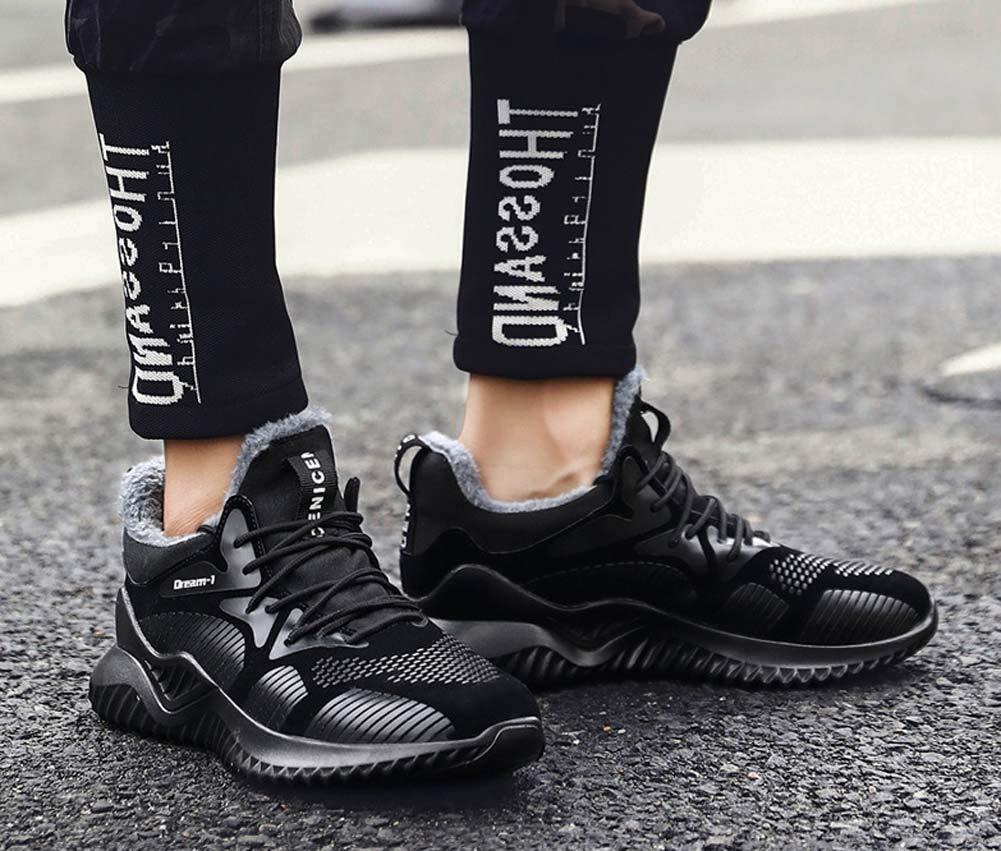 FGFKIJ Zapatos de Running para Hombre Zapatillas de Deporte Deporte Deporte Invierno cálido al Aire Libre Zapatillas Running Zapatos de montaña Gimnasio Zapatos de Viaje,Negro,42EU ce6423