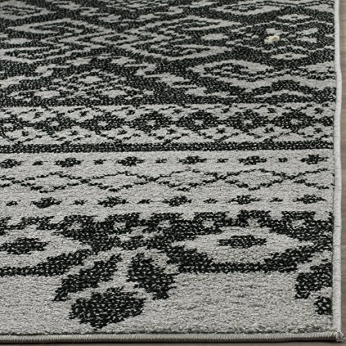 Safavieh Adirondack Collection ADR107A Silver and Black Rustic Bohemian Area Rug (9' x 12') by Safavieh (Image #1)