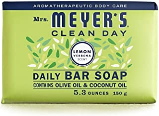 product image for Mrs. Meyer's Clean Day Bar Soap, Use as Body Wash or Hand Soap, Cruelty Free Formula, Lemon Verbena Scent, 5.3 oz