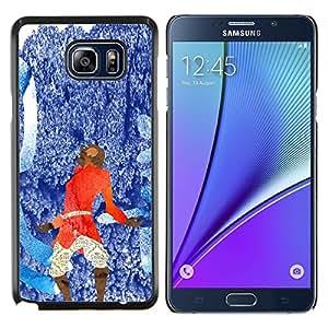 Azul abstracto rojo- Metal de aluminio y de plástico duro Caja del teléfono - Negro - Samsung Galaxy Note5 / N920