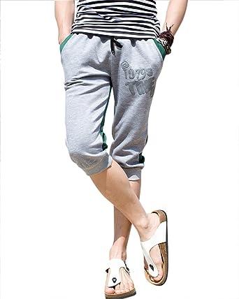 Herren Freizeithose Fitness Capri Hose Sporthose