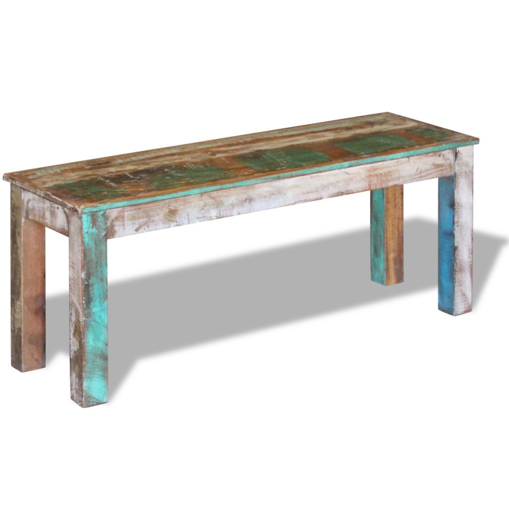 """Festnight Reclaimed Wood Bench for Home Kitchen or Entryway, 43.3""""x 13.8""""x 17.7"""", Handmade"""