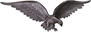Montague Metal Products Swedish Iron Flagpole Wall Eagle, 24-Inch