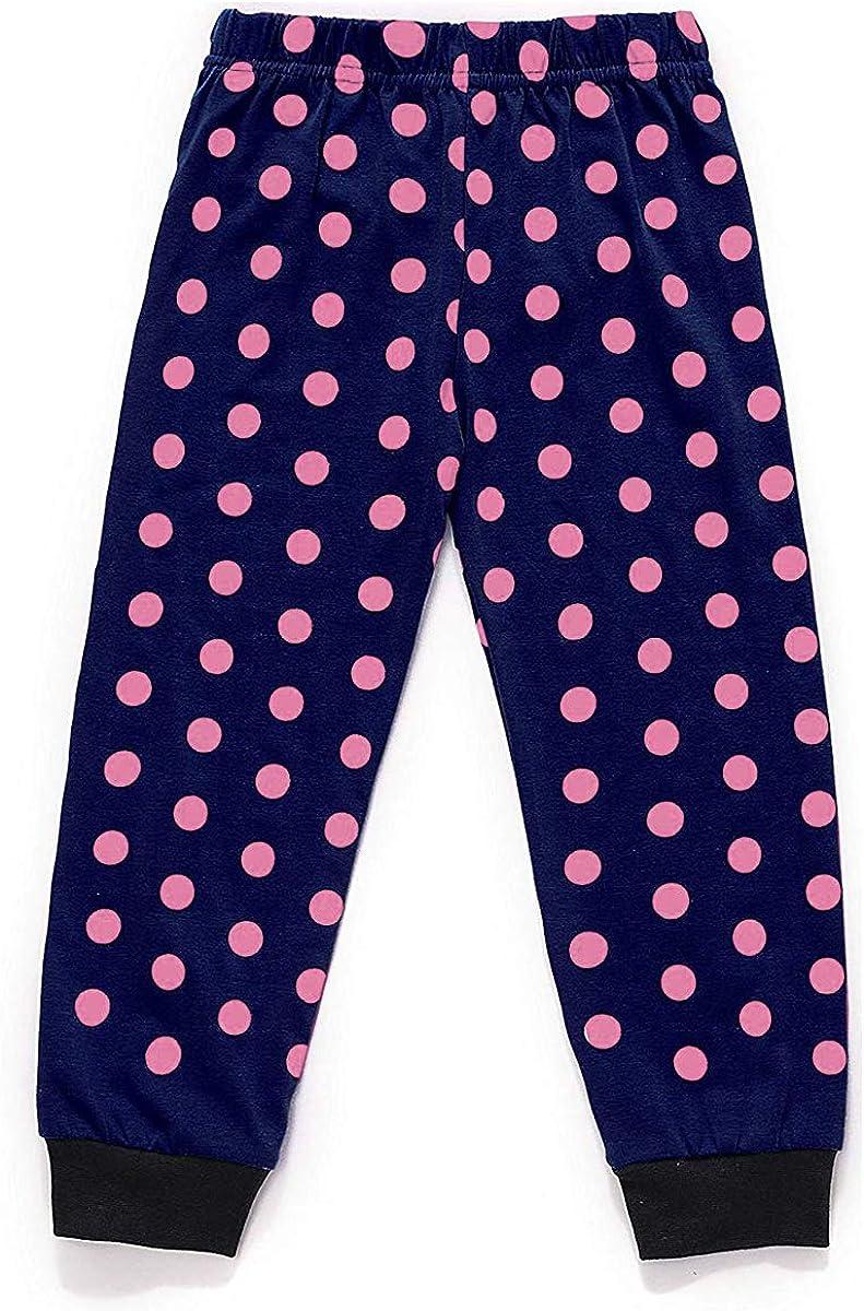 EULLA Kinder Schlafanzug M/ädchen Lang Giraffe Pyjama Marienk/äfer Nachtw/äsche 92 98 104 110 116