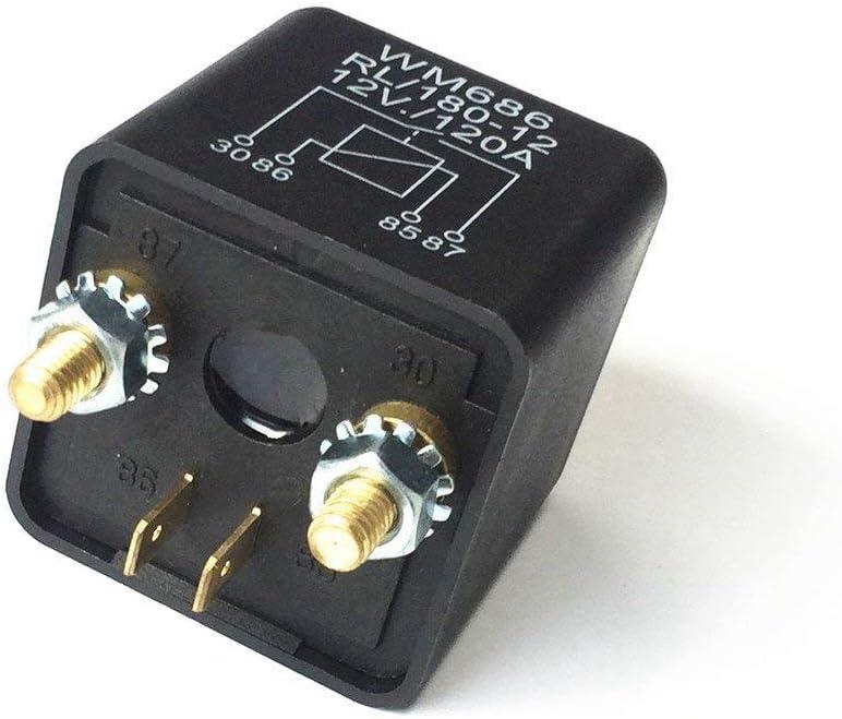 12V//120A PQZATX 12V Relais Batterie Trennrelais 12V//120A Spitzenlast Fuer Pkw LKW Kfz