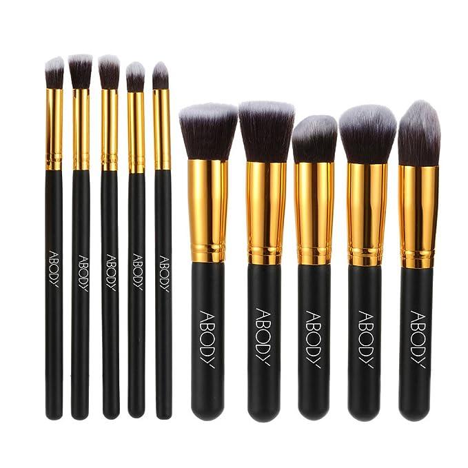 150 opinioni per Abody 10 pezzi Set di Pennelli Make up Professionale Cosmetico per Nero e Oro