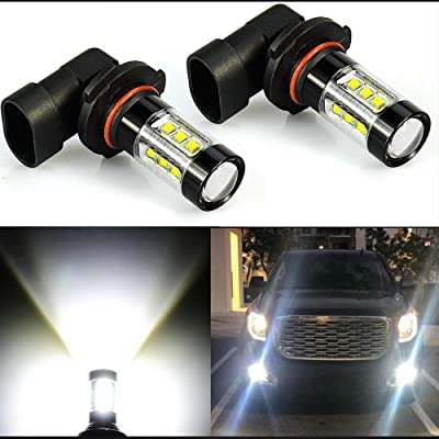 Extremely Bright 3200 Lumens Max 80W High Power H10 9145 9140 9050 9155 LED Fog Light Bulbs for DRL or Fog Lights, Xenon White: Automotive