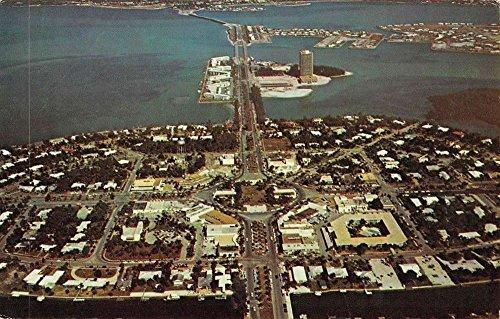 Sarasota Florida St Armands Key Aerial View Vintage Postcard - St Armand Florida
