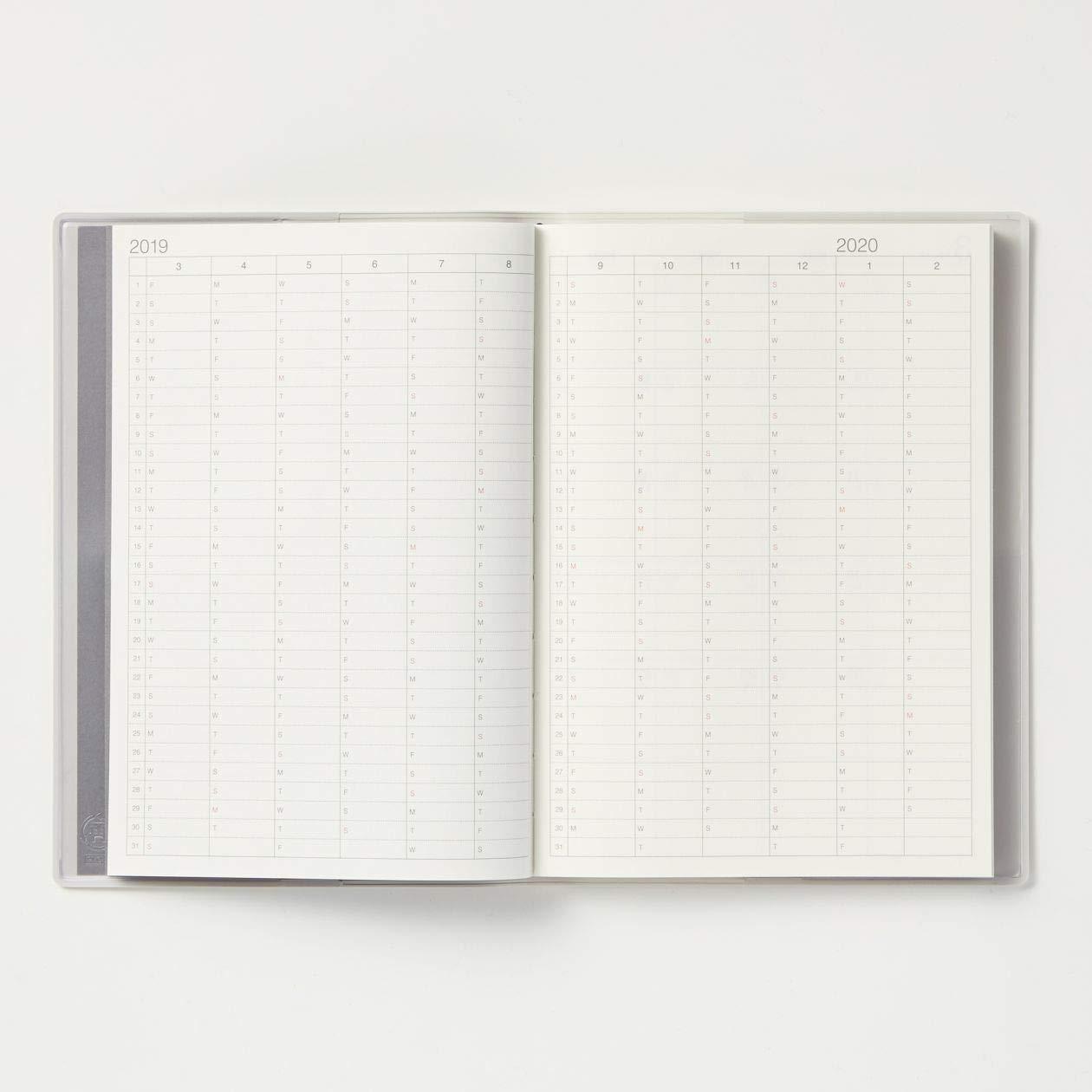 Amazon.com : MUJI 2019 Fine Recycled Paper Schedule Note B6 ...