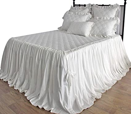 Bedspreads.Queen S House Off White Quilted Bedspreads Coverlet King Size 30 Drop