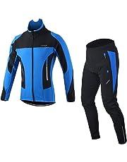 Lixada Men s Jacket Winter Waterproof Thermal Breathable Cycling Clothing  Sets Riding Long Sleeve Sportswear+Padded 41b4a1ae5