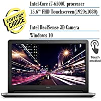 Lastest Dell Inspiron 15.6 FHD Touchscreen Intel Skylake Core i7-6500U, 16GB RAM, 1TB HDD, Truelife Display, DVD, Backlit keys, HDMI, Bluetooth, 802.11ac, RealSense Webcam, Win10-MaxxAudio Pro Silver