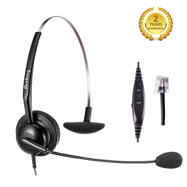 Beebang Telephone Headset Landline Phone Headset Rj9 Office Headset With Noise Cancelling Microphone For Avaya Polycom Plantronics Siemens Snom Toshiba Mitel Nec Nortel Aastra Alcatel Gigaset Buy Online In India