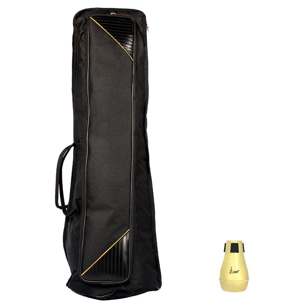 MonkeyJack Portable Tenor Trombone Sordine Mute, Carry Bag Case for Trombonist Musical Instrument Accessory