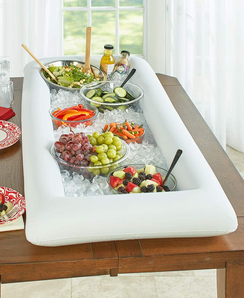 Inflatable Buffet- Easy to Carry to Site-Deflates Easily and Folds for Storage.